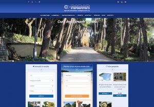 Screenshot del nuovo sito dell'agenzia immobiliare Radar